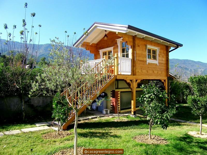 Casa green legno casa sull albero per abitare nella natura - Casa sull albero minecraft ...